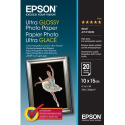 Epson Ultra Glossy Photo Paper, 100 x 150 mm, 300g/m², 20