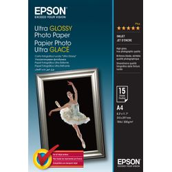Epson Ultra Glossy Photo Paper, DIN A4, 300g/m², 15 Vel