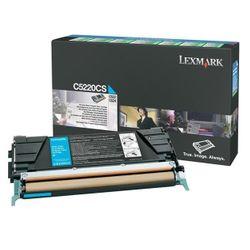 Lexmark C52x, C53x 3K cyaan retourprogr. tonercartr.