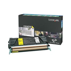 Lexmark C524, C532, C534 5K gele retourpr. tonercartr.