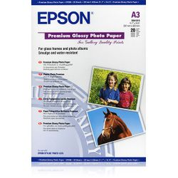 Epson Premium Glossy Photo Paper, DIN A3, 255g/m², 20 Vel