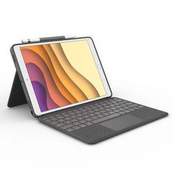 Logitech Combo Touch toetsenbord voor mobiel apparaat QWERTY Brits Engels Grijs Smart Connector