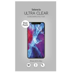 Selencia Duo Pack Ultra Clear Screenprotector iPhone 12 6.7 inch - Screenprotector