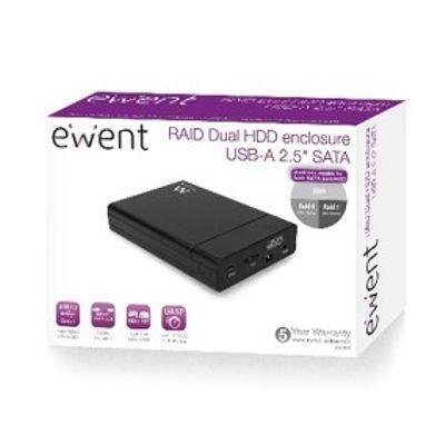 Ewent EW7043 behuizing voor opslagstations HDD-/SSD-behuizing Zwart 2.5