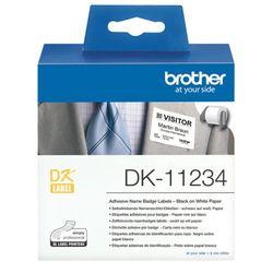 Brother DK-11234 printeretiket Wit Zelfklevend printerlabel