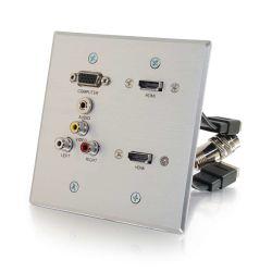 C2G 60143 tussenstuk voor kabels VGA, 2x HDMI, 3.5mm, RCA A/V RapidRun, 2x HDMI Aluminium