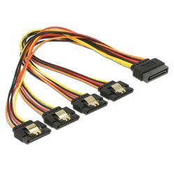 DeLOCK 60157 SATA-kabel 0,3 m SATA 15-pin 4 x SATA 15-pin Multi kleuren