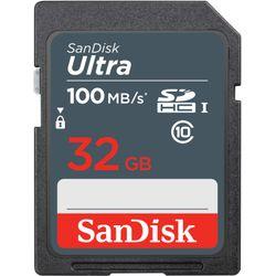 SanDisk Ultra 32GB SDHC Mem Card 100MB/s flashgeheugen UHS-I Klasse 10
