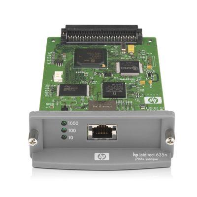 HP Jetdirect 635n print server Intern Ethernet LAN Groen, Grijs