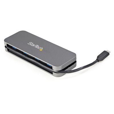 StarTech.com HB30CM4AB interface hub USB 3.2 Gen 1 (3.1 Gen 1) Type-C 5000 Mbit/s Zwart, Grijs