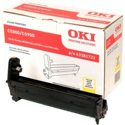 OKI 43381721 20000pagina's Geel printer drum