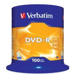 Verbatim DVD-R Matt Silver 4.7GB DVD-R 100stuk(s)