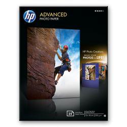 HP Advanced Photo Paper, glanzend, 25 vel, 13 x 18 cm randloos pak fotopapier