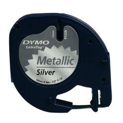 DYMO S0721730 labelprinter-tape Zwart op metallic
