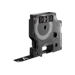 DYMO D1 -Standard Labels - White on Black - 12mm x 7m