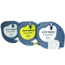 DYMO S0721790 Black on white + black on yellow + black on