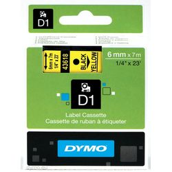 DYMO S0720790 Zwart op geel labelprinter-tape