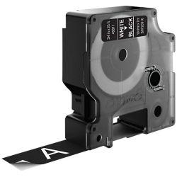 DYMO D1 -Standard Labels - White on Black - 19mm x 7m