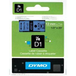 DYMO S0720560 labelprinter-tape Zwart op blauw