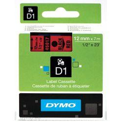 DYMO S0720570 labelprinter-tape Zwart op rood