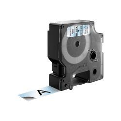 DYMO D1 -Standard Labels - Black on Transparent - 19mm x 7m