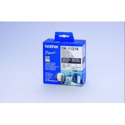 Brother DK-11218 Round Labels Wit