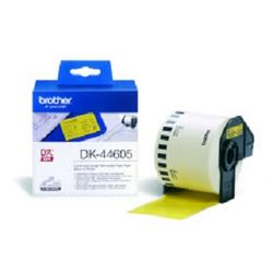 Brother DK-44605 Continuous Removable Yellow Paper Tape (62mm) Geel