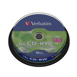 Verbatim CD-RW 12x CD-RW 700MB 10stuk(s)