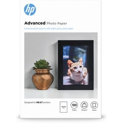 HP Advanced Photo Paper, glanzend, 100 vel, 10 x 15 cm