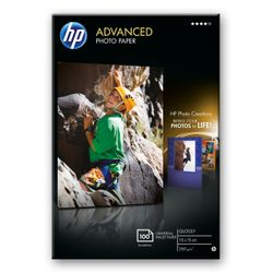 HP Advanced Photo Paper, glanzend, 100 vel, 10 x 15 cm randloos