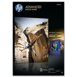 HP Advanced Photo Paper, glanzend, 20 vel, A3/297 x 420 mm pak fotopapier