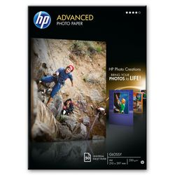HP Advanced Photo Paper, glanzend, 50 vel, A4/210 x 297 mm pak fotopapier