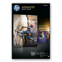 HP Advanced Glossy Photo Paper pak fotopapier Zwart, Blauw, Wit Glans