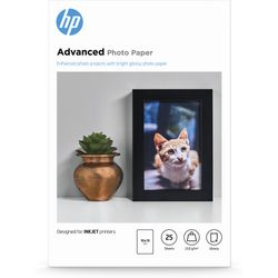 HP Advanced Photo Paper, glanzend, 25 vel, 10 x 15 cm
