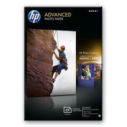 HP Advanced Photo Paper, glanzend, 25 vel, 10 x 15 cm randloos pak fotopapier