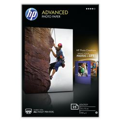 HP Advanced Photo Paper, glanzend, 25 vel, 10 x 15 cm randloos pak fotopapier
