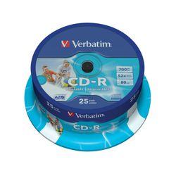 Verbatim CD-R AZO Wide Inkjet Printable CD-R 700MB 25stuk(s)