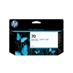 HP 70 zwarte DesignJet fotoinktcartridge, 130 ml