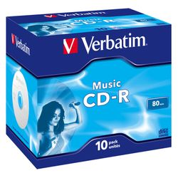 Verbatim Music CD-R CD-R 700MB 10stuk(s)