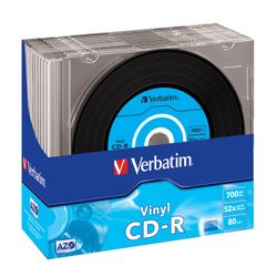 Verbatim CD-R AZO Data Vinyl 700 MB 10 stuk(s)