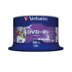 Verbatim DVD+R Wide Inkjet Printable No ID Brand 4.7GB DVD+R