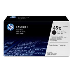 HP 49X originele high-capacity zwarte LaserJet tonercartridge, 2-pack