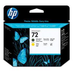 HP 72 matzwarte/gele DesignJet printkop