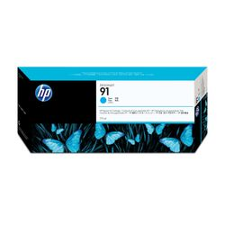 HP 91 cyaan pigmentinktcartridge, 775 ml