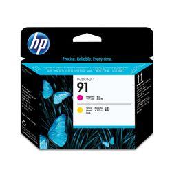 HP 91 magenta en gele printkop