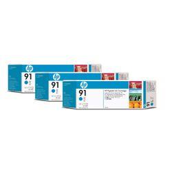 HP 91 cyaan inktcartridges, 775 ml, 3-pack