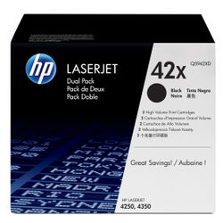 HP 42X originele high-capacity zwarte LaserJet tonercartridge, 2-pack