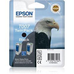 Epson Dubbelpack Black T007 inktcartridge