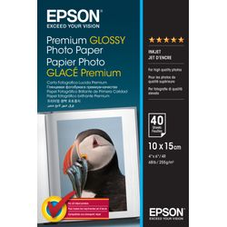 Epson Premium Glossy Photo Paper, 100 x 150 mm, 255g/m², 40