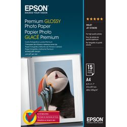 Epson Premium Glossy Photo Paper, DIN A4, 255g/m², 15 Vel